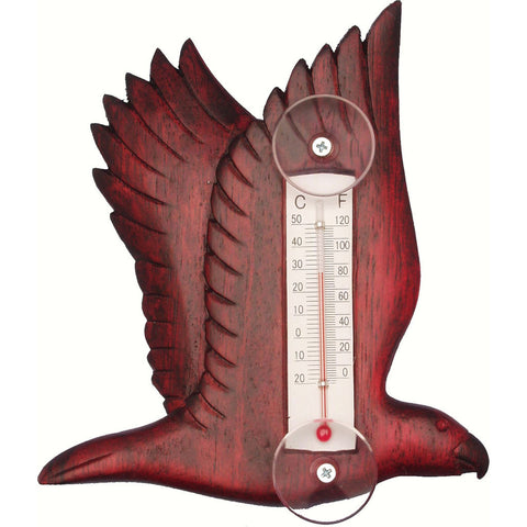 Songbird Essentials Small Flying Stained Eagle Window Thermometer