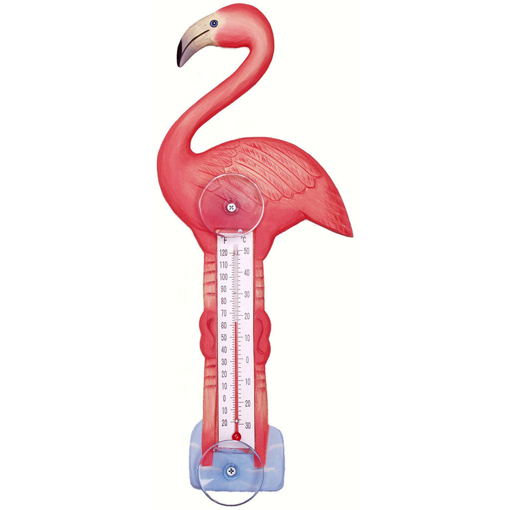 Songbird Essentials Small Flamingo Window Thermometer