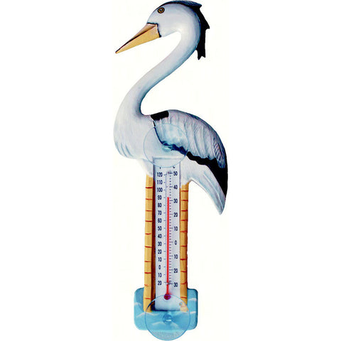 Songbird Essentials Small Heron Window Thermometer