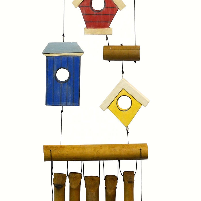 Birdhouse 3 Village Bamboo Chime