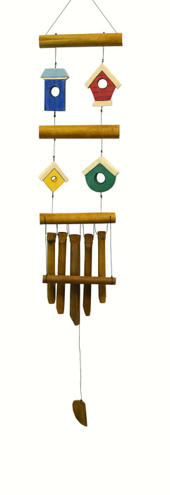 Birdhouse 4 Village Bamboo Chime