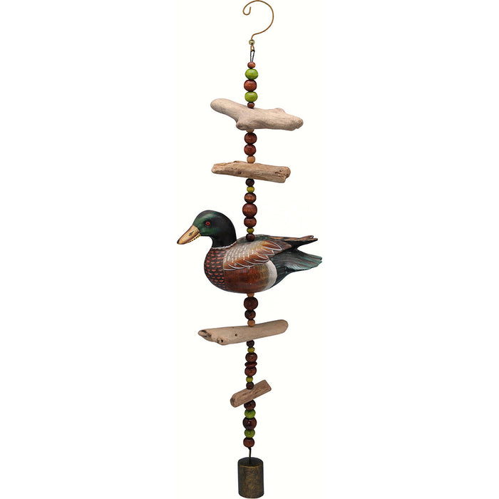 Songbird Essentials Mallard Hand Carved and Painted Driftwood Sculpture