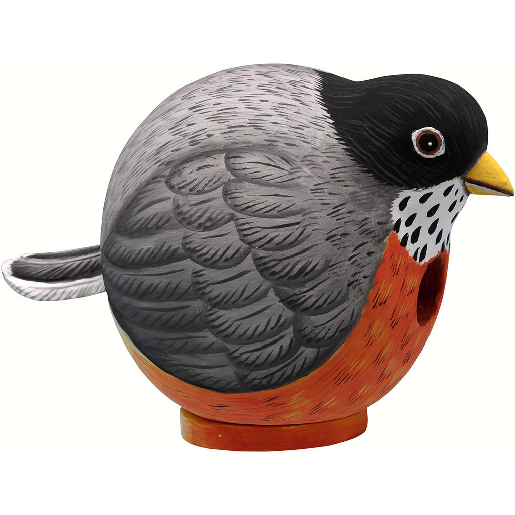 Songbird Essentials 9.1 IN x 5.9 IN x 5.9 IN Hand Painted Robin Gord Wood Birdhouse
