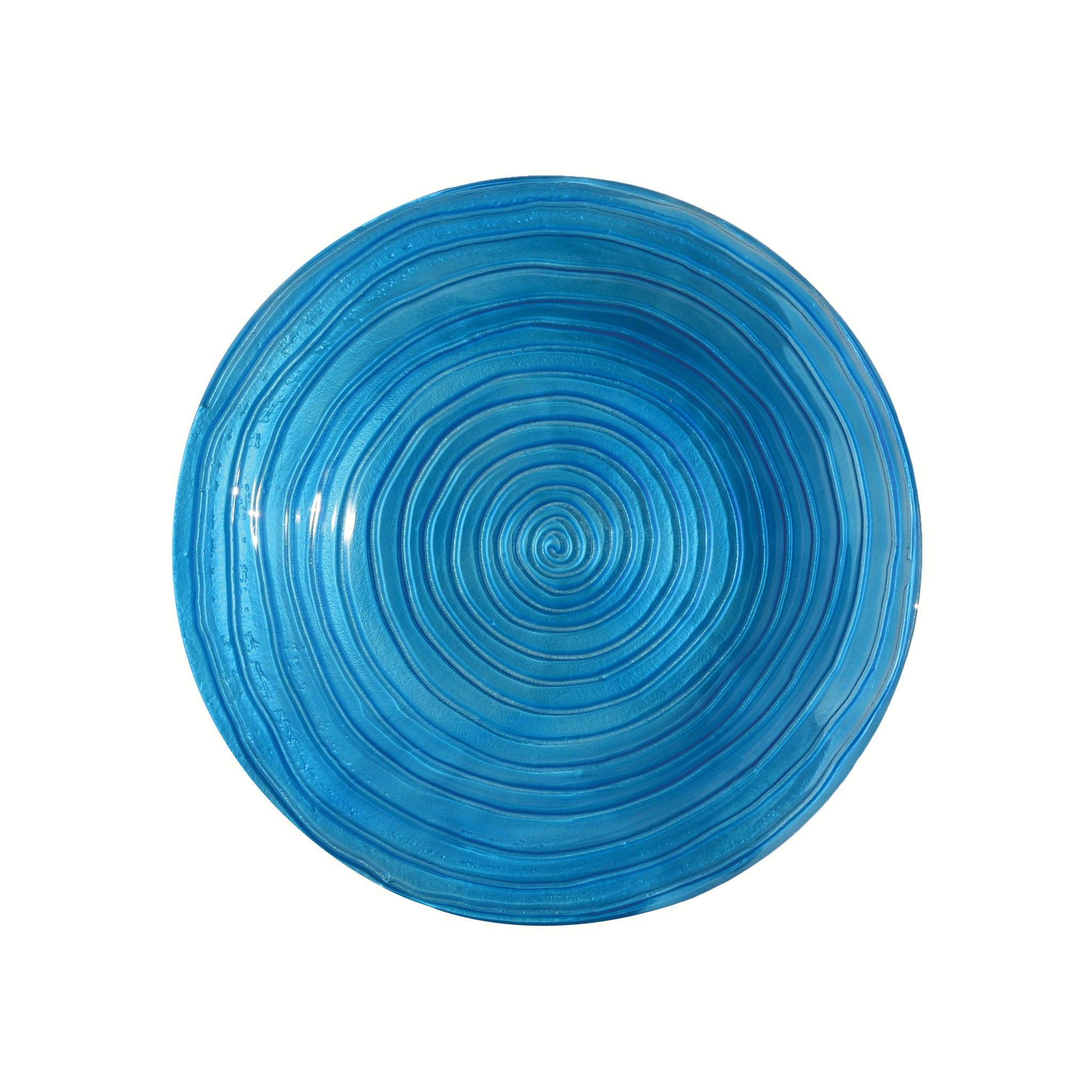 Blue Swirls Birdbath Bowl