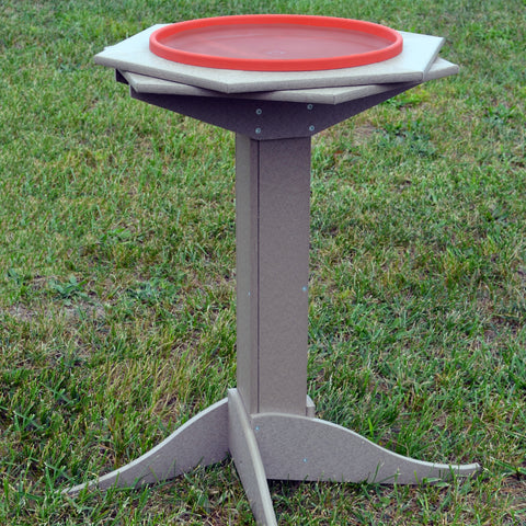 Recycled Poly Heated Birdbath