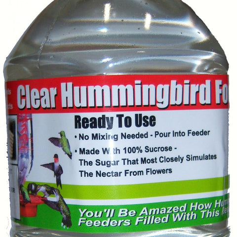 1 Liter (33.8 OZ) Clear Ready To Use Hummingbird Nectar