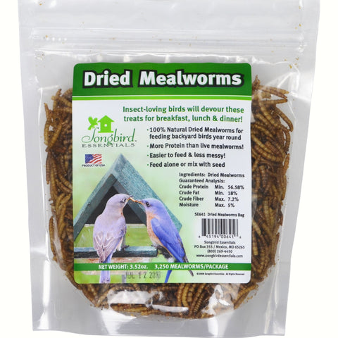 Songbird Essentials 3.52 Oz Dried Meal worms