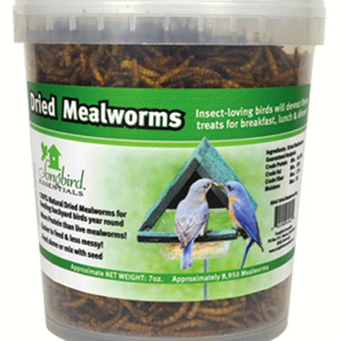 16 OZ Tub of Dried Mealworms