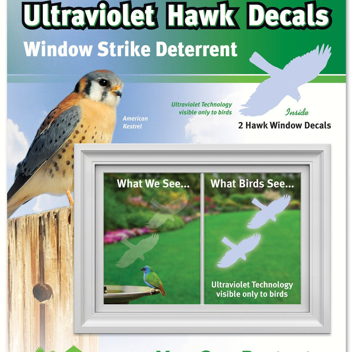 Hawk Transparent Window Alert Decals Pack Of 2