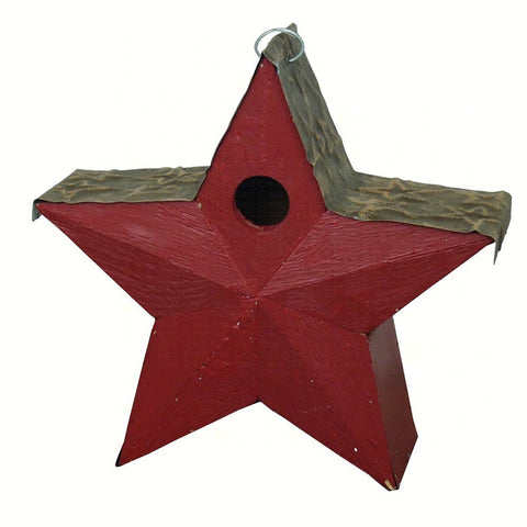 Red Country Star Birdhouse