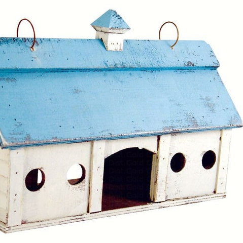 Small Blue Stable Bird Feeder