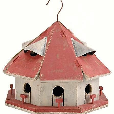 Songbird Essentials Wood Red Roof Motel Birdhouse