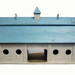 Songbird Essentials Large Blue Stable Bird Feeder
