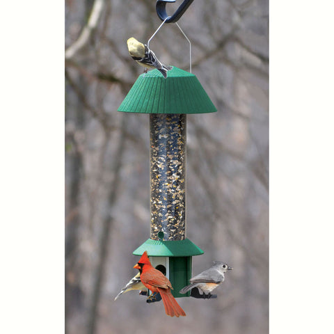 Songbird Essentials Squirrel Defeater 1.1 Qt 3 Weight Controlled Ports Bird Seed Feeder