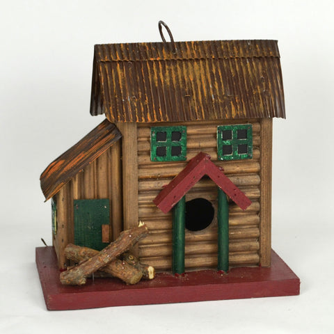 Two-Story Cabin Birdhouse