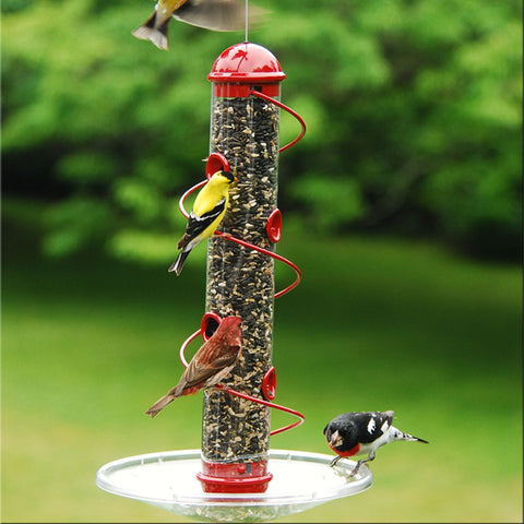 17 IN Red Spiral Sunflower Feeder