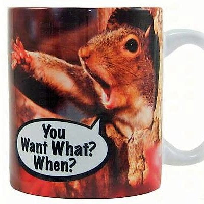"Songbird Essentials ""You Want What When?"" Ceramic Mug"