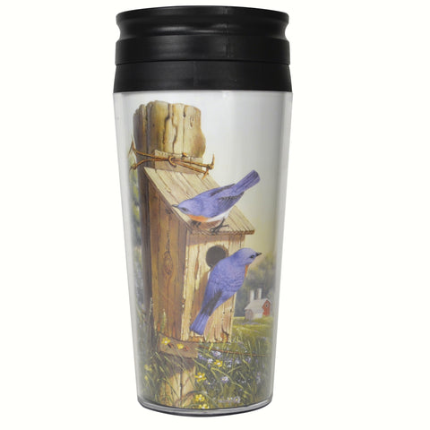 Songbird Essentials 16 Oz Summer Bluebird Poly Thermal Mug