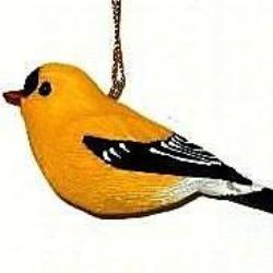 Songbird Essentials Poly-resin Gold Finch Ornament