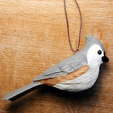 Songbird Essentials Poly-resin Tufted Titmouse Ornament