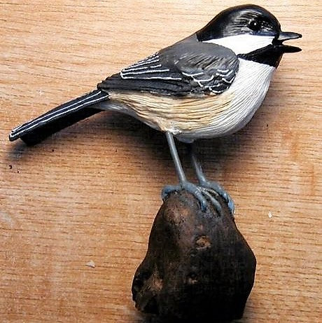 Songbird Essentials Poly-resin Chickadee Statuette