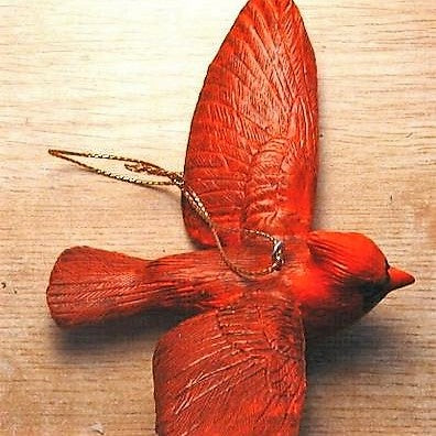 Songbird Essentials Poly-resin Flying Cardinal Ornament
