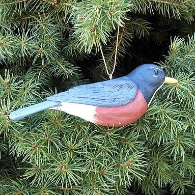 Songbird Essentials Poly-resin Robin Ornament
