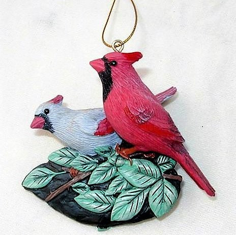 Songbird Essentials Poly-resin Cardinal Pair Ornament