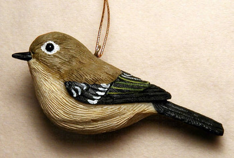 Songbird Essentials Poly-resin Ruby Crowned Kinglet Ornament