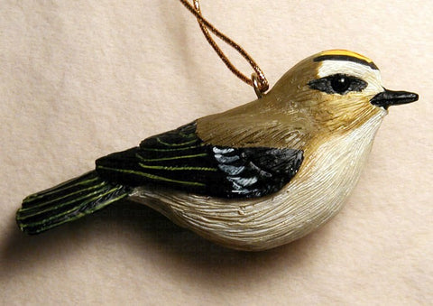 Songbird Essentials Poly-resin Golden Crowned Kinglet Ornament