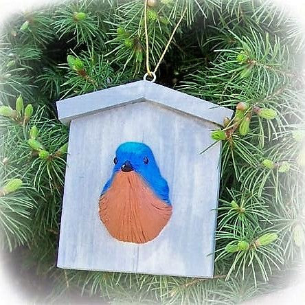 Songbird Essentials Poly-resin Bluebird Ornament