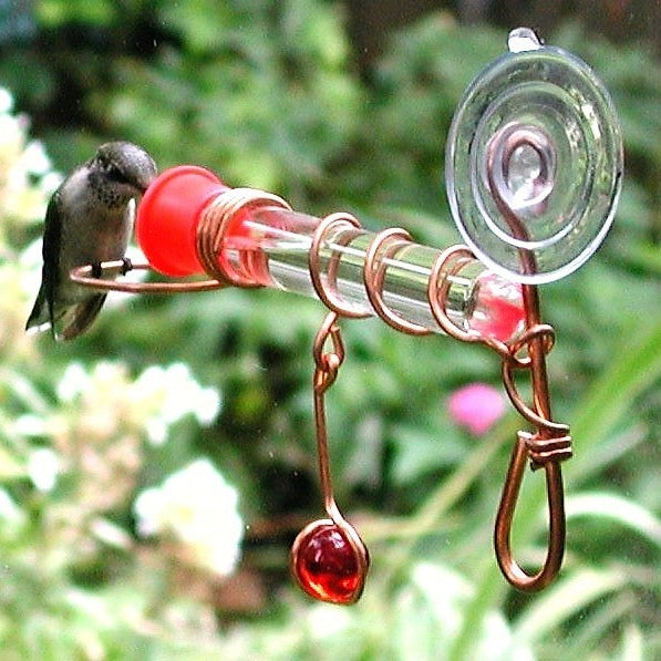 Window Wonder One Tube Hummerbird Feeder