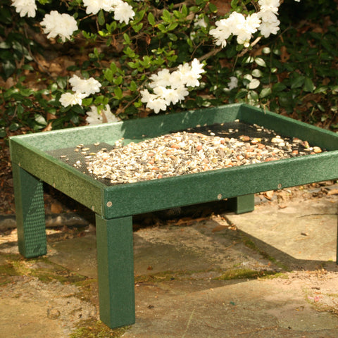 Hunter Green Ground Platform Feeder