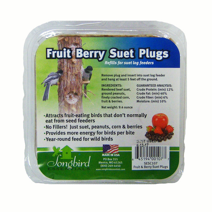 Suet Plugs Fruit and Nut