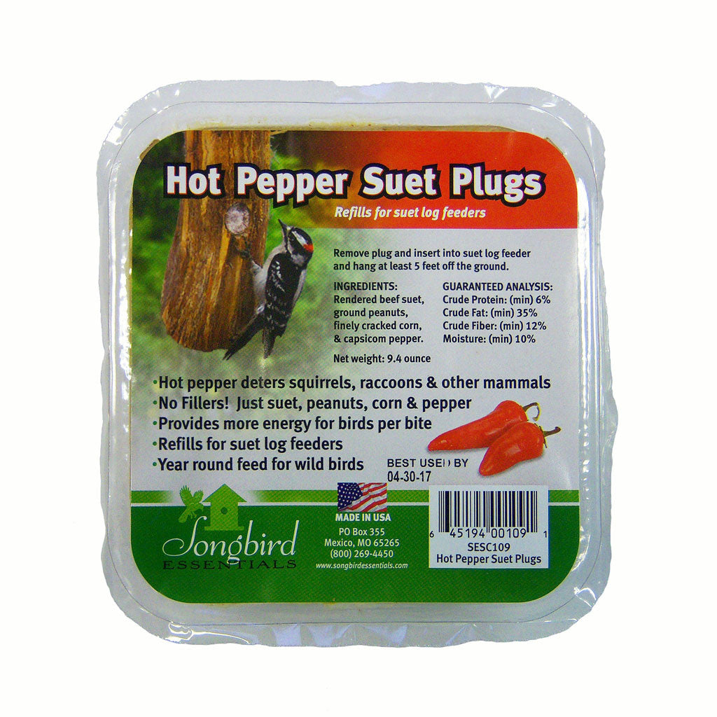 Songbird Essentials Songbird Suet Hot Pepper Plugs