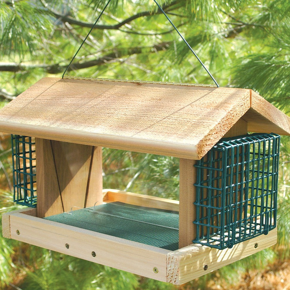 Large Plantation Birdfeeder with 2 Suet Baskets