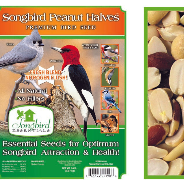 Songbird Essentials Songbird 20 LB Peanut Halves