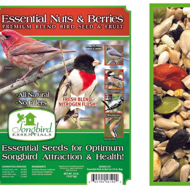 Songbird Essentials Essentials 20 LB Nuts and Berries