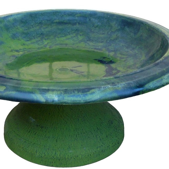 Hunter Green Fiber Clay Bird Bowl With Small Base