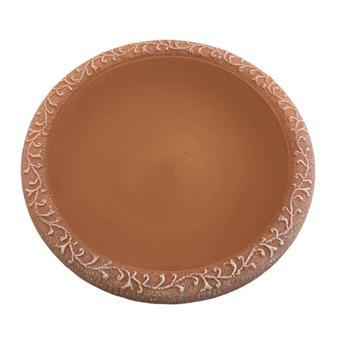 Terra Cotta Gloss Bird Bowl with Mat Rim