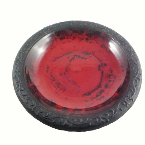 TDI Brands Red Gloss Bird Bowl w/Mat Rim Birdbath