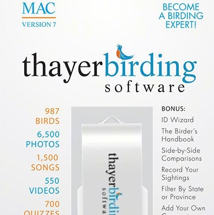 Thayer's Birds of North America Version 7 For MAC