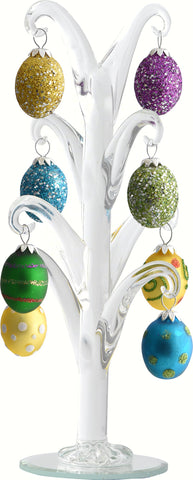 8 IN Crystal Easter Tree With Egg Ornaments