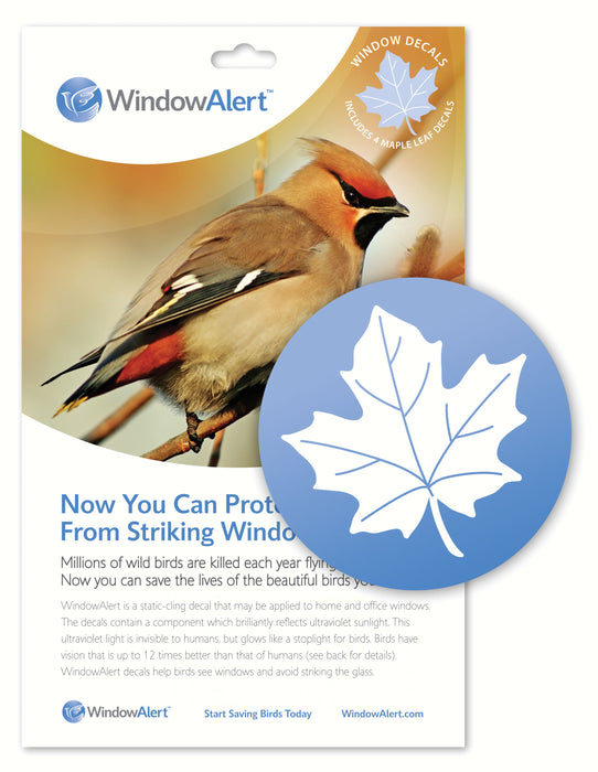 Maple Leaf Window Alert Decals Pack Of 4
