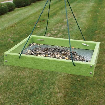 Go Green Light Green Platform Bird Feeder