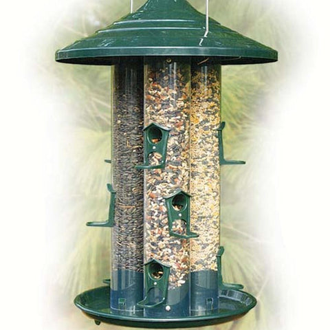 Triple Tube Seed Bird Feeder