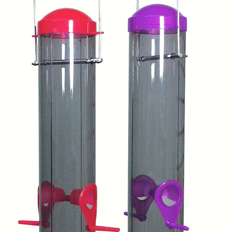 Dual Port Multi-Colored Plastic Tube Feeder