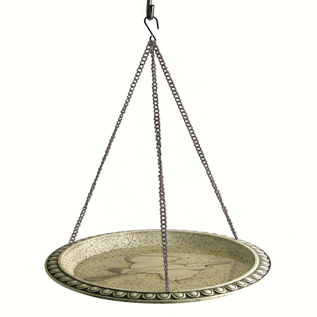 Woodlink 12 IN Egret Embossed Hanging Birdbath