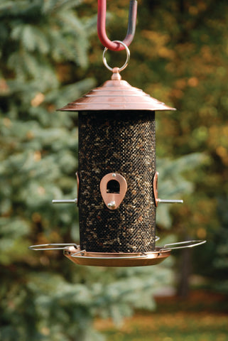 Brushed Copper Mixed Seed Feeder