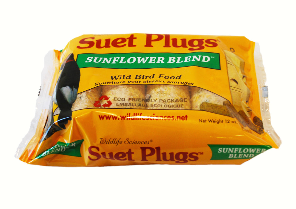 Sunflower Suet Plugs 12 OZ